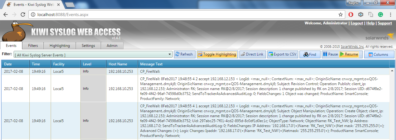Forwarding Check Point Audit Logs to Syslog Server – QOS