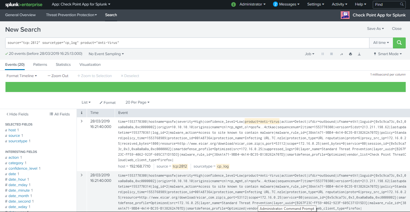 Integration of Check Point R80 20 with Splunk using Log